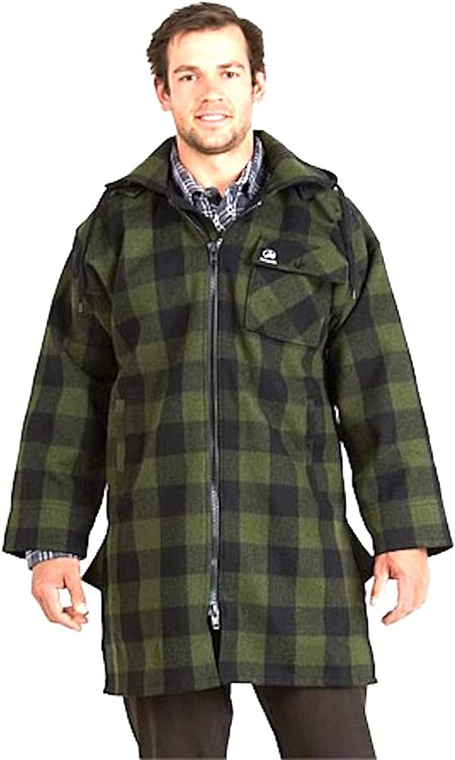 Swanndri Mosgiel Zip Front Bush Shirt Olive Black Check 2XL