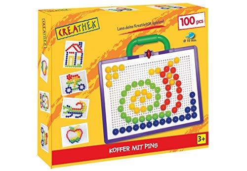 Steck-Mosaik-Koffer, 3-fach sortiert 50, 100 oder 160-teilig