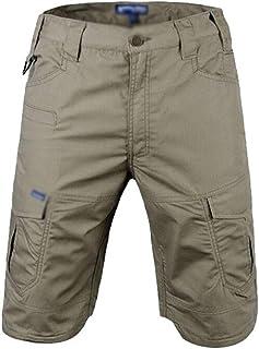 Hombre Tactica Pantalones Militar Cortos Multi Bolsillos Teflón Impermeable Combate Cargo Resistente Desgaste Camping Caceria Bosque Excursionismo