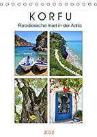 Korfu - Paradiesische Insel in der Adria (Tischkalender 2022 DIN A5 hoch): Die gruenste aller griechischen Inseln (Monatskalender, 14 Seiten )