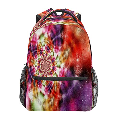 Fractals Abstract Colorful Pattern Business Laptop Backpack Travel Hiking Camping Daypack College Bookbag Large Diaper Bag Doctor Bag School Backpack Water Resistant Anti-Theft for Women&Men