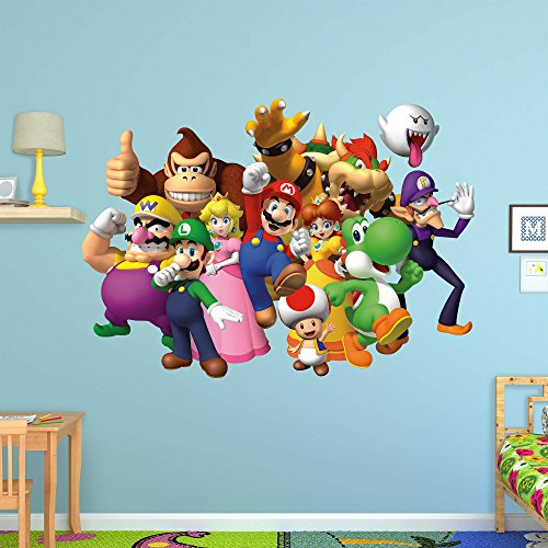 FATHEAD Super Mario: Group-Huge Officially Licensed Nintendo Removable Wall Decal