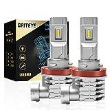 Briteye(まぶしい) H11 LEDヘッドライト 車検対応 CREEチップ搭載 6500K ホワイト H8/H9/H11/H16 LEDバルブ 一体型 車用 ヘッドライト ファンレス (2個入)