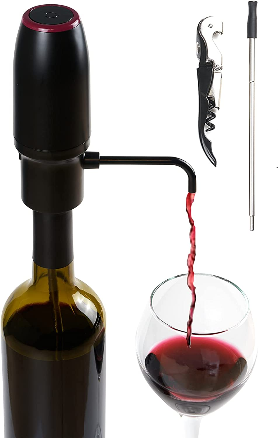Electric Wine Aerator and Pourer Smart – Year-end gift Ranking TOP3 W Automatic Filter