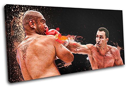 Bold Bloc Design - Wladamir Klitschko Boxing Sports - 80x40cm Leinwand Kunstdruck Box gerahmte Bild Wand hängen - handgefertigt In Großbritannien - gerahmt und bereit zum Aufhängen - Canvas Art Print