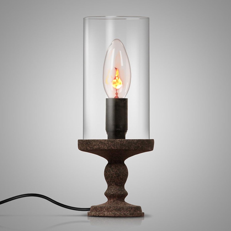 Retro Kerze Tischlampe Tischlampe Tischlampe Kunst Kerzenständer Nordic Wein Tisch Schlafzimmer Nachttischlampe (größe   A) B077KYGSNF | Queensland  154afd