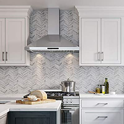 """CAVALIERE Range Hood 30"""" Inch Wall Mount Stainless Steel Kitchen Exhaust Vent 