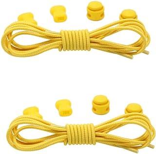DGBAY 2 Pairs Shoe Laces Unsiex Adults Kids Elastic No Tie Locking Shoelaces Sports Sneaker AU