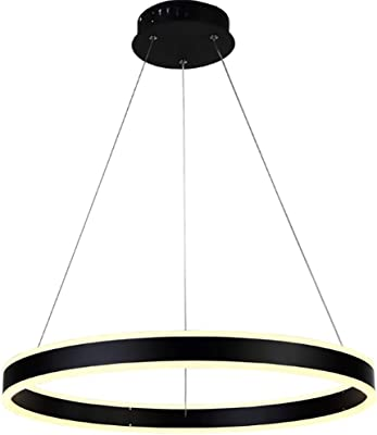 HAIXIANG Acrylic LED Chandelier Restaurant Study Room Bedroom Ring pendant lamp Living Room Ceiling Fixtures 30CM