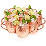 Kitchen Science Moscow Mule Copper Mugs Set...