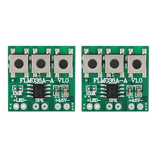 T osuny 2Pcs 36 Music Chip, DIY-Modul mit Einstellbarer Lautstärke, Musikspielzeugzubehör mit Knopf, Unterstützung für LED, geeignet für intelligente Türklingel, intelligentes Schloss