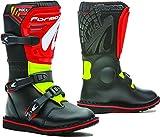 Fora – Botas de Moto Trial para niño y Junior Rock Black/Red Yellow Fluo T34
