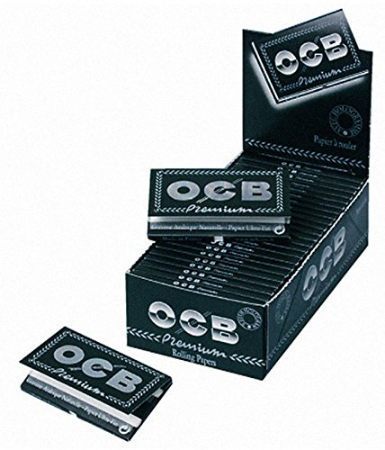 2 Boxen (50x) OCB Schwarz Black 100er Zigarettenpapier Filigrane Gomme No.4 kurz