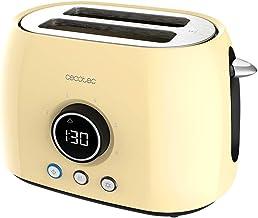 Cecotec Digital Broodrooster ClassicToast 8000 Yellow Double. 800 W, 2 Extra Brede korte sleuven, 3 vooraf ingestelde func...