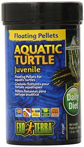Exo Terra Juvenile Aquatic Turtle Food, Floating Pellets for Reptiles, 1.5 Oz., PT3247
