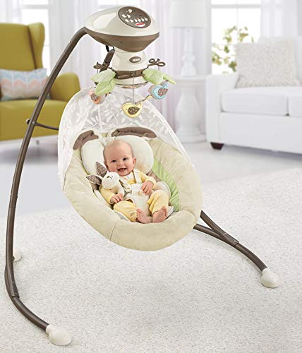Fisher-Price Snugabunny Cradle 'n Swing with Smart Swing Technology