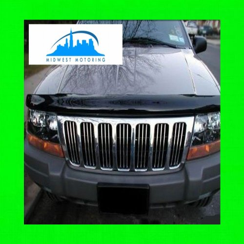 312 Motoring fits 1999-2004 Jeep Grand Cherokee Chrome Trim for Grill Grille 2000 2001 2002 2003 99 00 01 02 03 04