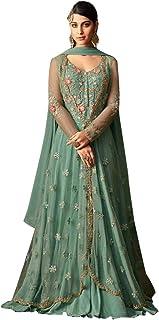 Designer Evening Cocktail Party wear Anarkali Suit Jacket style Abaya Gown Women dress Semi-stitch 7891
