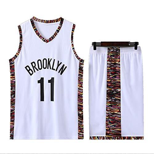 DSWF IRVIÑG 11# NẽTS Jersey de Baloncesto para Hombre, Joven Transpirable Secado rápido Baloncesto Uniforme sin Mangas Sportswear XXXL