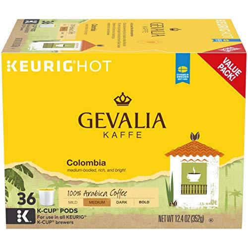 Gevalia Colombian Medium Roast Coffee Keurig K Cup Pods (36 Count)