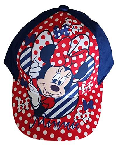 Minnie Maus Kappe Basecap, Cappy, Schirmmütze, Mütze Sonnenhut, gepunktet für Kinder, Jungen und Mädchen (Blau, 52)