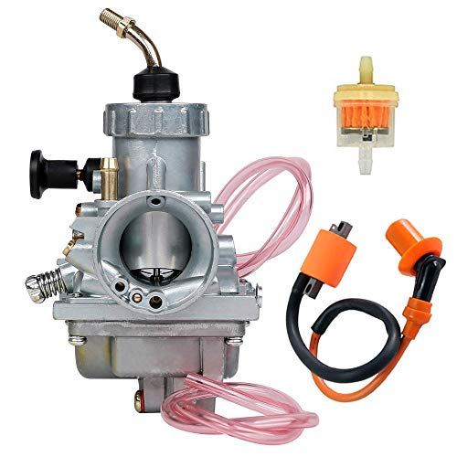 Carburetor Includ Ignition Coil + Fuel filterTop End Kit Replacement for Yamaha Blaster 200 YFS200 1988-2006, by LIYYOO