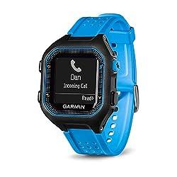 Garmin Forerunner 25 GPS Running Watch (Large; Black/Blue) - 010-01353-01 (Renewed)