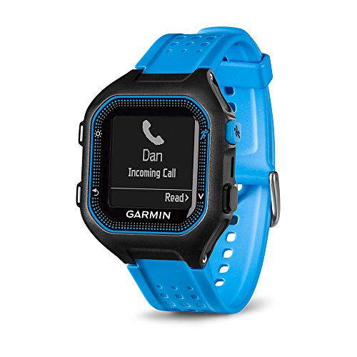 Garmin Forerunner 25 GPS Running Watch (Large; Black/Blue) - 010-01353-01 (Renewed)
