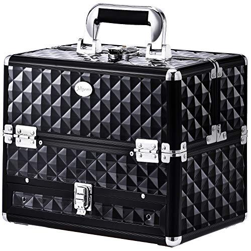 Joligrace Makeup Train Cases Professional Travel Makeup Cosmetic Cases...