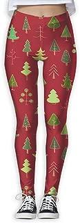 XMKWI Christmas Trees Women's Power Flex Sports Yoga Pants Workout Tights Leggings Trouser