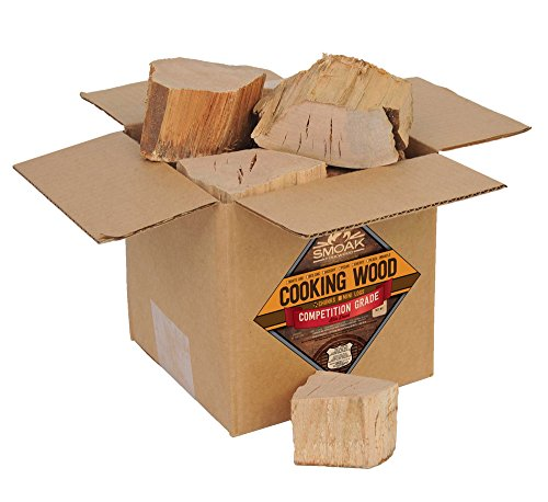 Smoak Firewood Cooking Wood Chunks - USDA Certified Kiln Dried (Maple, 6-8 lbs)
