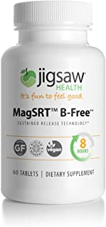MagSRT (Jigsaw Health Magnesium w/SRT - B-Free) Premium, Organic, Slow Release Magnesium Supplement - Active, Bioavailable Magnesium Malate Tablets - 60 ct