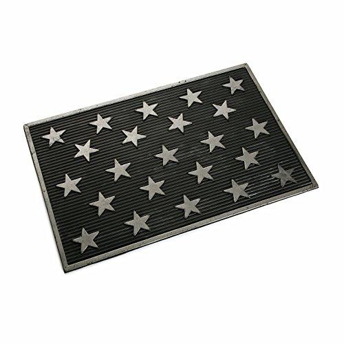 Versa 16980226 Felpudo de goma Estrellas, 40x60cm, Polipropileno, Antideslizante