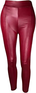 TooTu Solid Color Leather Pants Women Straight Long PantsTight Leggings Slim-Fit Sweatpants Autumn Winter Wild Pants