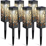 WdtPro Solar Lights Outdoor, 6 Pack Garden Lights Solar Powered with Warm White LED Lights, Waterproof Solar Ornament Lights for Patio, Yard, Pathway Dusk to Dawn Auto On/Off