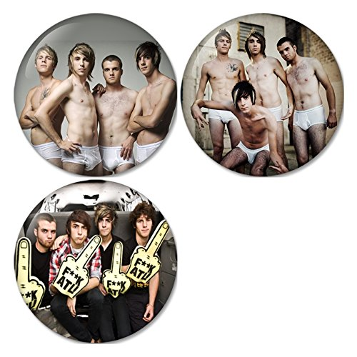 All Time Low #3 Pinback Buttons Badges/Pin 1.25 Inch (32mm) Set of 3 New