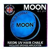 Moon Glow -Neon-UV-Haarkreide3.5gBlau–ein spektakulär glühender Effekt bei UV- und Schwarzlicht!