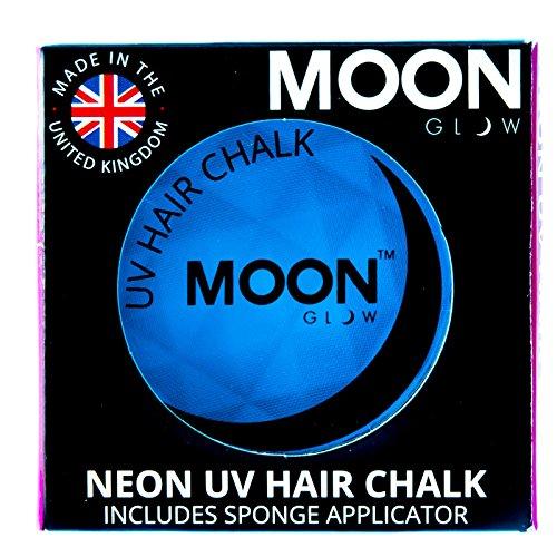 Moon Glow – Craie pour cheveux néon UV 3.5g Bleu. qui produisent un effet fluo incroyable sous la lumière ultraviolette ou noire !