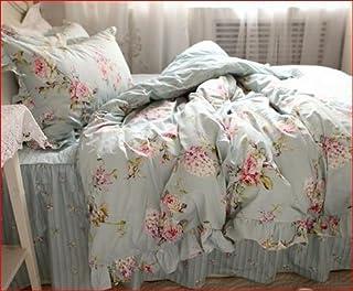 Juego de ropa de cama de matrimonio, estilo shabby modelo Anna, 150 x 200 cm, funda nórdica/colcha de 200 x 230 cm, 2 unidades de 74 x 47 cm