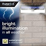 RuneSol 86 LED Motion Sensor Solar Powered Light | LED Garden Lights - Light Your Patio, Fence, Garden, Driveway… 6