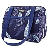 PackIt Freezable Hampton Lunch Bag, Navy Leaves