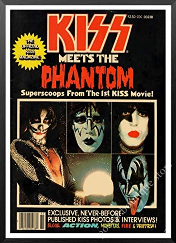 Heavy metal rock band Kiss Kraft papier computer muziek ster posters klassieke schilderen decoratieve lijm muur poster,6,21x30cm zonder lijst