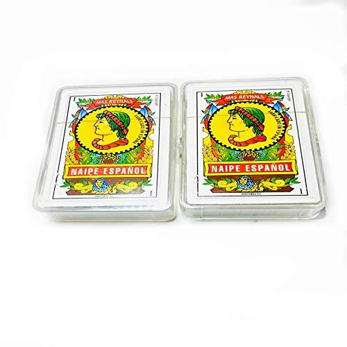 Pack de 2 Unidades Baraja Española + Baraja Española con Funda de Plástico Baraja española 100% Producto Español Juegos de Cartas Ideal para Jugar en Familia y Amigos. Ideal para Jugar Remigio.