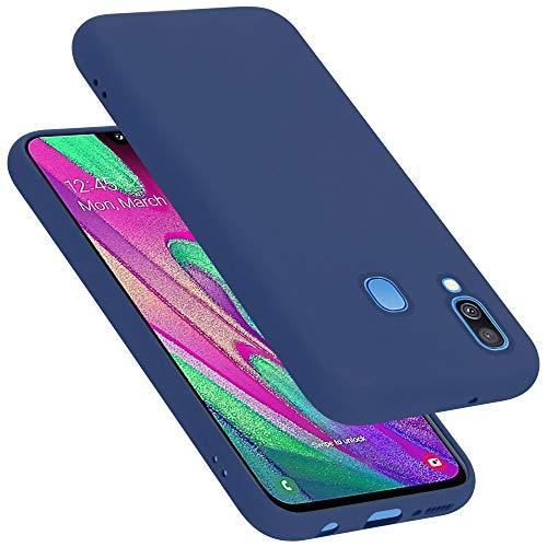 Cadorabo Custodia per Samsung Galaxy A40 in LIQUID BLU - Morbida Cover Protettiva Sottile di Silicone TPU con Bordo Protezione - Ultra Slim Case Antiurto Gel Back Bumper Guscio