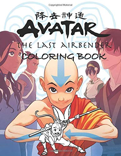 Avatar The Last Airbender Coloring Book: 50+ beautiful illustration of Avatar's characters, Aang, Zuku, Katara and more!