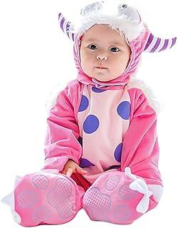 JEELINBORE Unisex Baby Tier Halloween Kostüme Plüsch Spielanzug Strampler Tieroutfit Warm Jumpsuit Winter Nachtwäsche