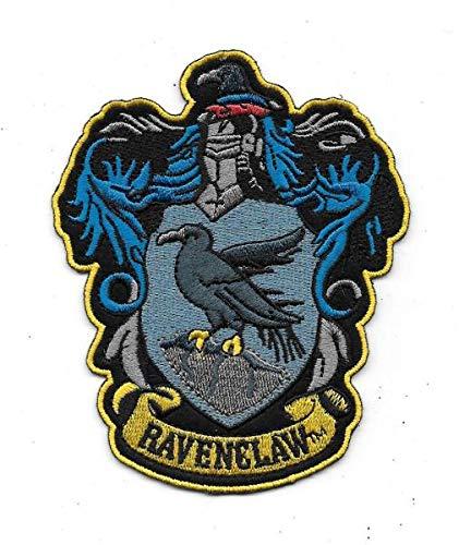 PSL Ravenclaw™ - Parche bordado para coser o planchar con motivo de cuervo, una de las cuatro casas de Hogwarts (Harry Potter), ideal para disfrazarse