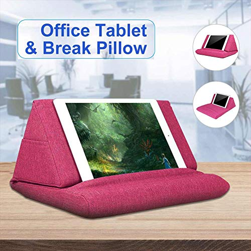 Laptop Tablet Pillow, Foam Lapdesk,Multifunction Laptop Cooling Pad,Tablet Stand Holder Stand, Lap Rest Cushion For Ipad With Bag (Hot Pink)