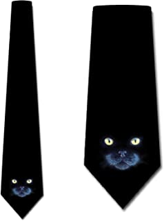 Black Cat Tie Mens NeckTies