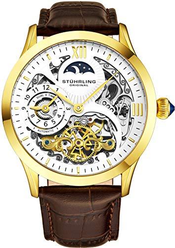 Stührling Original 571.3335K2 - Reloj analógico para Hombre, Correa de Cuero, Color...